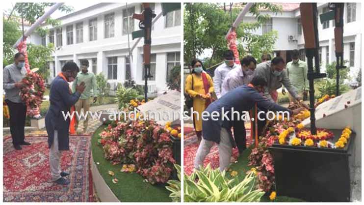 BJP team pays Tribute to War Heroes of Kargil War