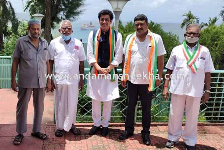 Dr Ajoy Kumar, Observer, All India Congress Committee (AICC) receives warm welcome at Port Blair